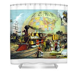 Transcontinental Railroad Shower Curtain