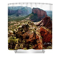 Transept Mountains 04-089 Shower Curtain by Scott McAllister