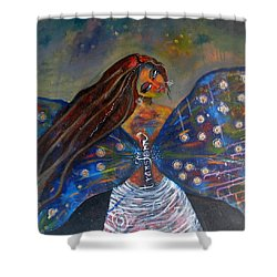 Shower Curtain featuring the painting Transform by Prerna Poojara