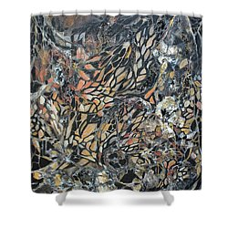 Shower Curtain featuring the mixed media Transformation by Joanne Smoley