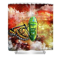 Transformed By The Truth Shower Curtain by Dolores Develde