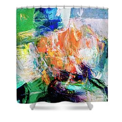 Shower Curtain featuring the painting Transformer by Dominic Piperata