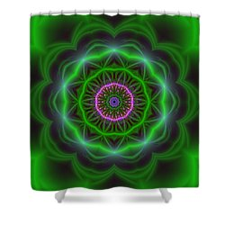 Transition Flower 10 Beats Shower Curtain