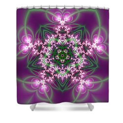 Shower Curtain featuring the digital art Transition Flower 5 Beats by Robert Thalmeier