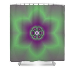 Shower Curtain featuring the digital art Transition Flower 6 Beats 2 by Robert Thalmeier