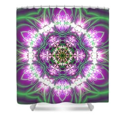 Transition Flower 6 Beats 3 Shower Curtain