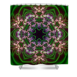 Shower Curtain featuring the digital art Transition Flower 6 Beats by Robert Thalmeier