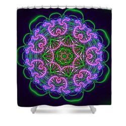 Shower Curtain featuring the digital art Transition Flower 7 Beats by Robert Thalmeier