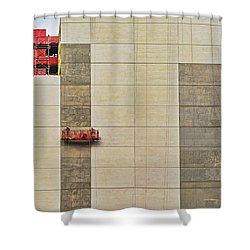 Shower Curtain featuring the photograph Transition From Old To New In New York by Gary Slawsky