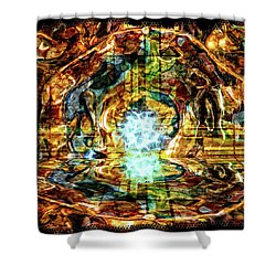 Transmutation Shower Curtain