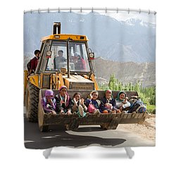 Transport In Ladakh, India Shower Curtain
