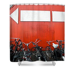 Transportation And Direction Shower Curtain