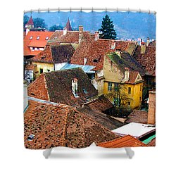 Transylvania Rooftops Shower Curtain