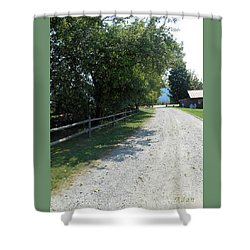 Trapp Family Lodge Rustic Road Shower Curtain