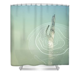 Trapped Shower Curtain by Michele Cornelius