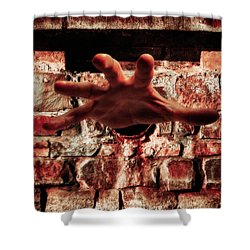 Trapped Shower Curtain by Wim Lanclus