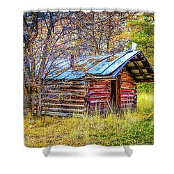 Trappers Cabin Shower Curtain