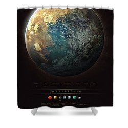Trappist-1d Shower Curtain