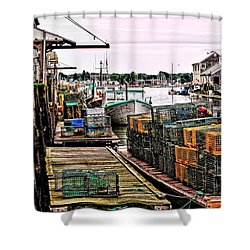 Traps Portland Maine Shower Curtain by Tom Prendergast