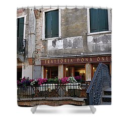 Trattoria Dona Onesta In Venice, Italy Shower Curtain