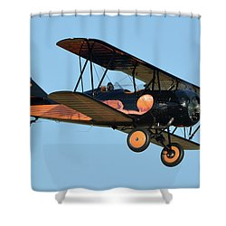 Travel Air D-4-d Nc472n Chino California April 29 2016 Shower Curtain by Brian Lockett