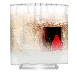 Travel Exotic Women Portrait Mehrangarh Fort India Rajasthan 1a Shower Curtain