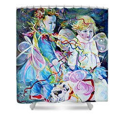 Travel Notebook. Nice Carnival. Fairies Shower Curtain