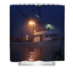 Traveler Bait Boat Shower Curtain