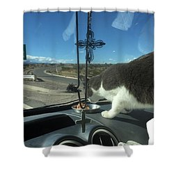 Shower Curtain featuring the photograph Traveler by Erika Chamberlin