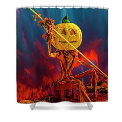 Traveler's Beware Shower Curtain