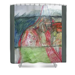 Travelers On The Train Shower Curtain