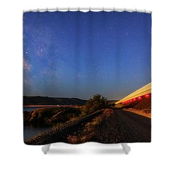 Shower Curtain featuring the photograph Traveling At The Speed Of Light by Cat Connor