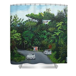 Traveling In Adjuntas Mountains Shower Curtain