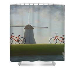 Traveling In Holland Shower Curtain
