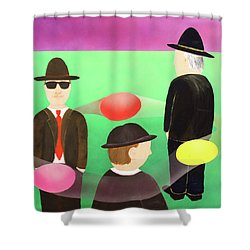 Traveling In The Right Business Circles Shower Curtain by Thomas Blood