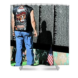 Traveling Wall Shower Curtain by Karol Livote