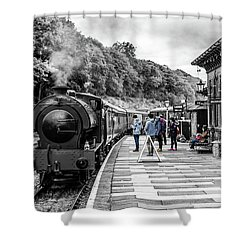 Travellers In Time Shower Curtain