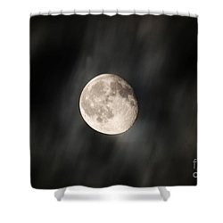 Travelling With Moon Shower Curtain