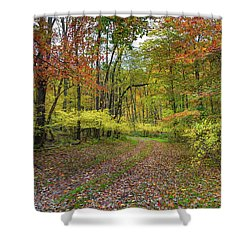 Travels Through Autumn Shower Curtain
