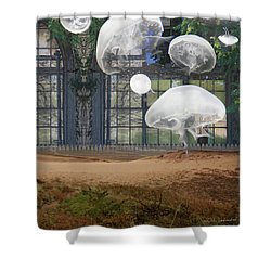 Travels With Jellyfish Shower Curtain