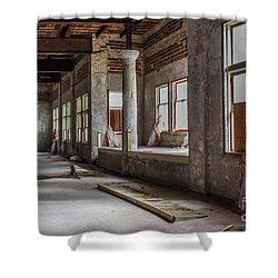 Traverse City State Hospital Shower Curtain