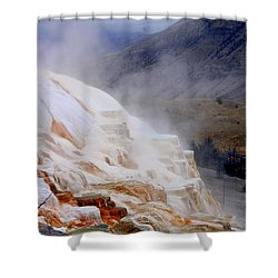 Travertine Terracce Shower Curtain