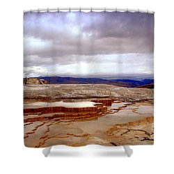 Travertine Terraces Shower Curtain
