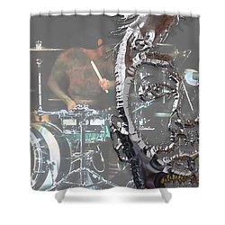 Travis Barker Blink 182 Collection Shower Curtain by Marvin Blaine