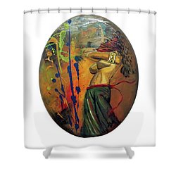 Trayectos Shower Curtain
