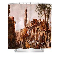 tre cammelli in Egitto Shower Curtain