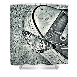 Tread Lightly  Shower Curtain