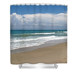 Treasure Coast Beach Florida Seascape C4 Shower Curtain by Ricardos Creations