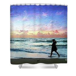 Treasure Coast Florida Seascape Dawn D6 Shower Curtain