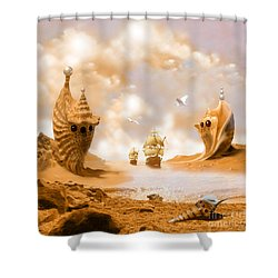 Shower Curtain featuring the digital art Treasure Island by Alexa Szlavics